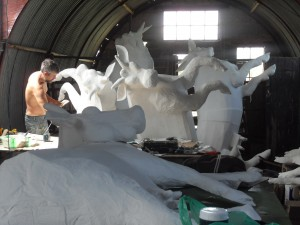 Undercoating cows